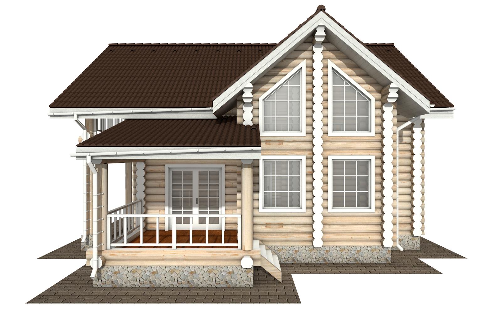 Фото #8: Красивый деревянный дом РС-155 из бревна