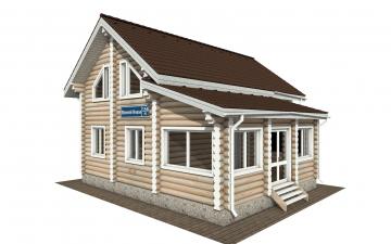 Фото #2: Красивый деревянный дом РС-156 из бревна