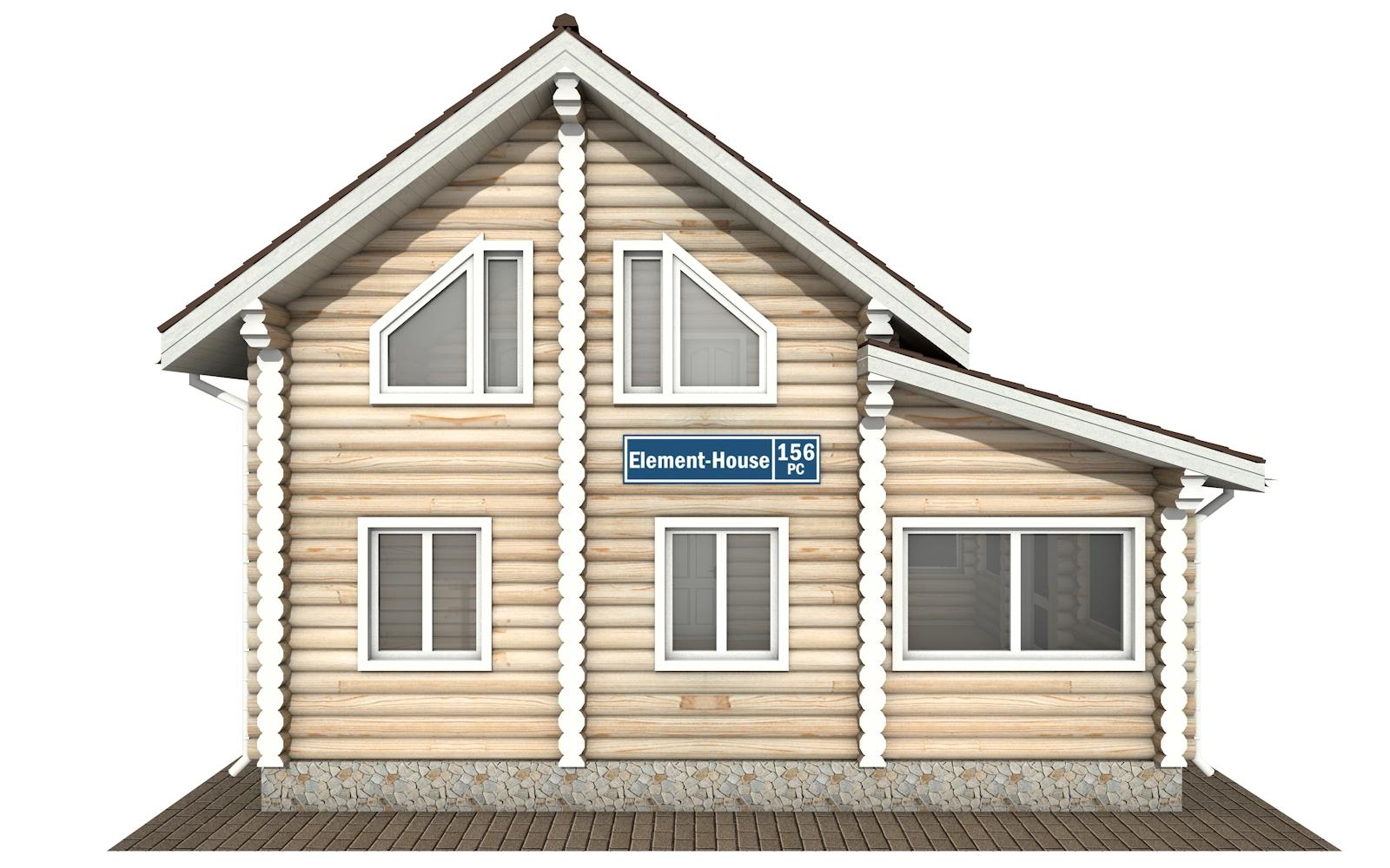Фото #8: Красивый деревянный дом РС-156 из бревна