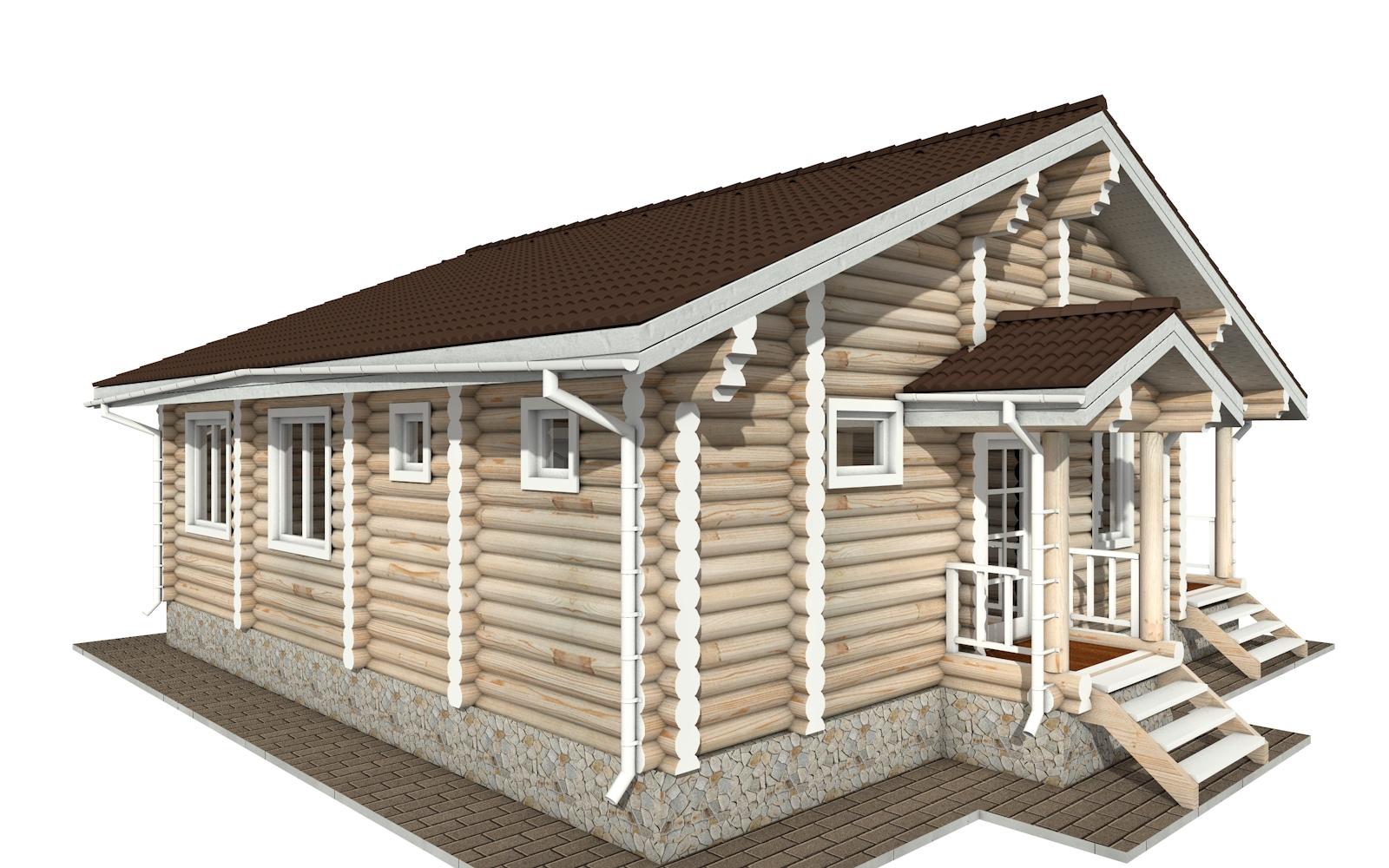 Фото #2: Красивый деревянный дом РС-157 из бревна