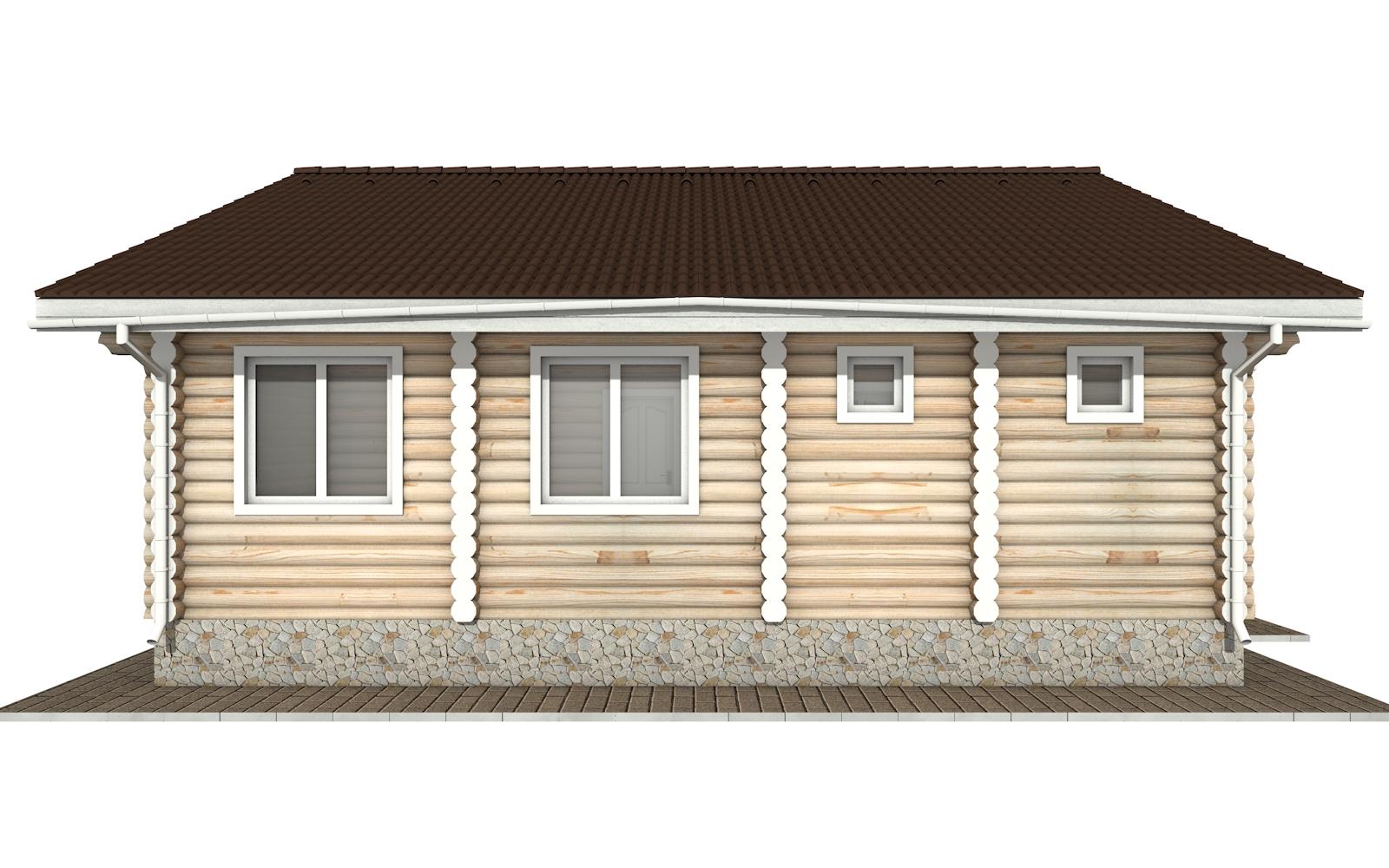 Фото #7: Красивый деревянный дом РС-157 из бревна