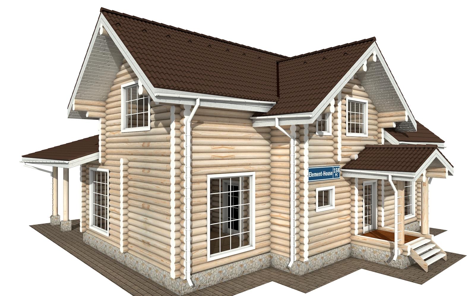 Фото #2: Красивый деревянный дом РС-158 из бревна