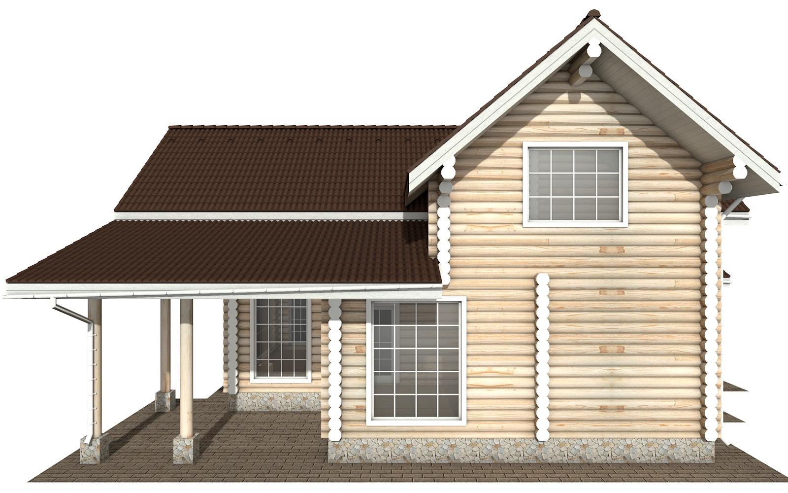 Фото #8: Красивый деревянный дом РС-158 из бревна