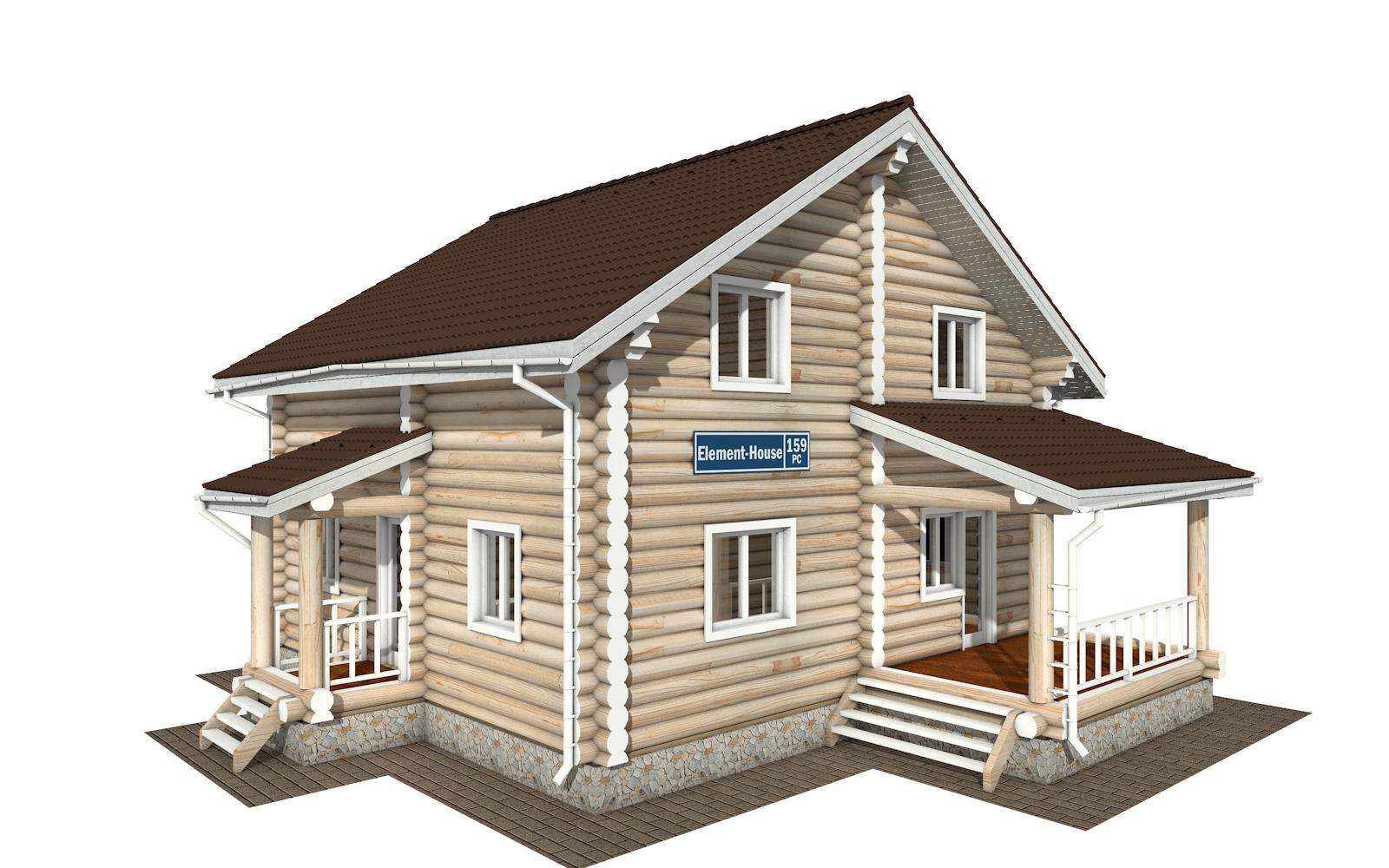 Фото #2: Красивый деревянный дом РС-159 из бревна