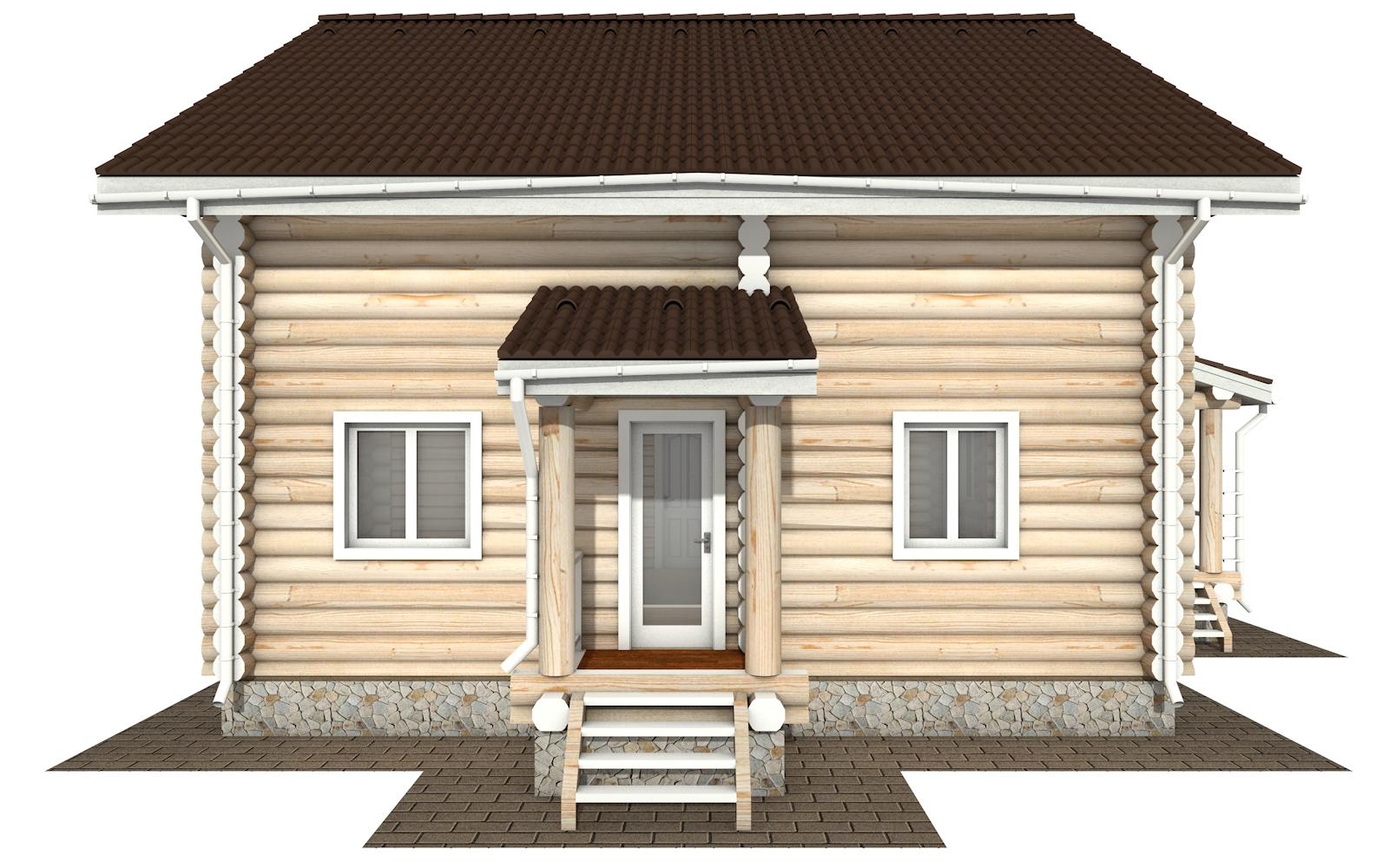 Фото #8: Красивый деревянный дом РС-159 из бревна