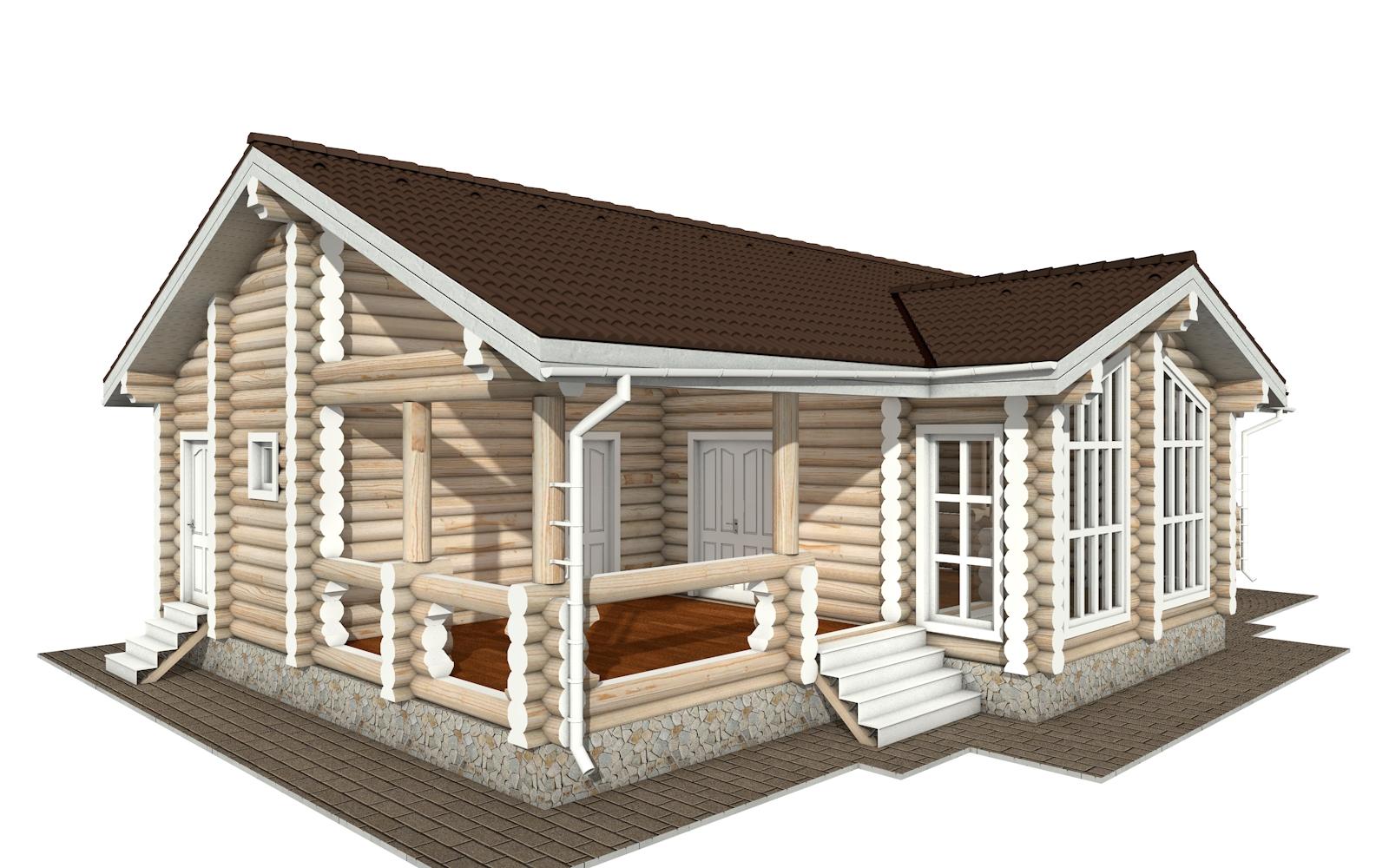 Фото #2: Красивый деревянный дом РС-160 из бревна