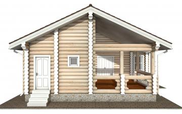 Фото #8: Красивый деревянный дом РС-160 из бревна