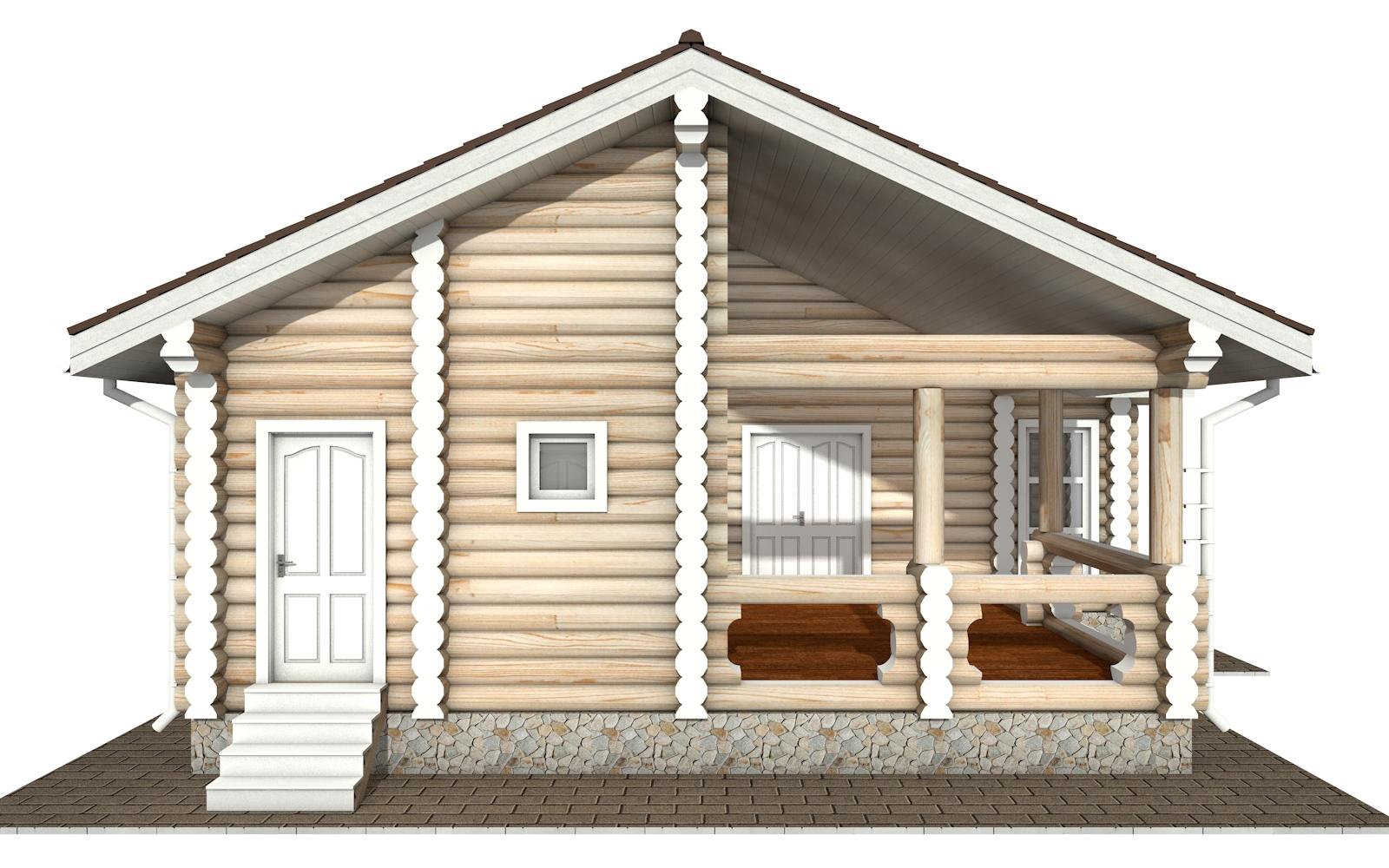 Фото #7: Красивый деревянный дом РС-160 из бревна