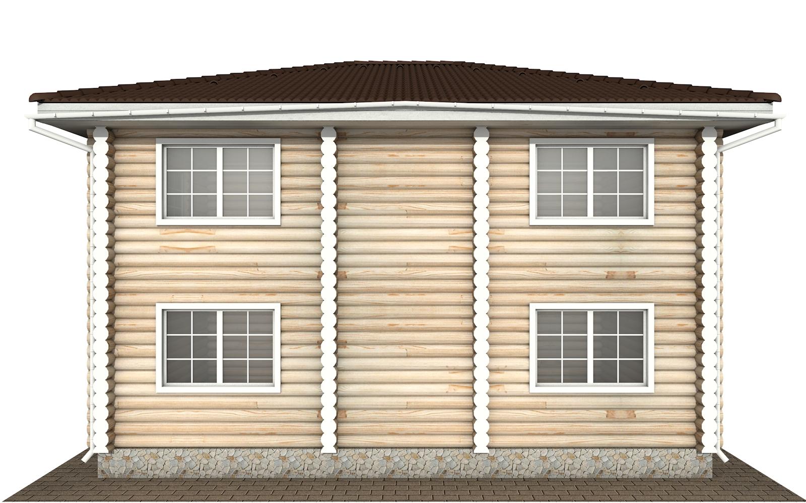 Фото #8: Красивый деревянный дом РС-147 из бревна