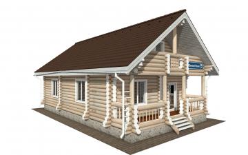 Фото #2: Красивый деревянный дом РС-161 из бревна
