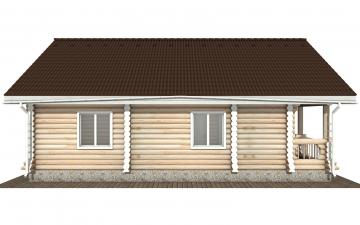 Фото #8: Красивый деревянный дом РС-161 из бревна