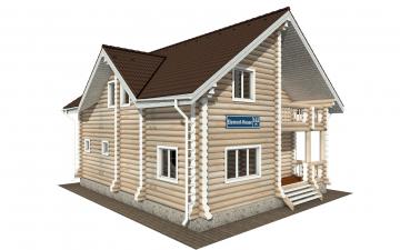 Фото #2: Красивый деревянный дом РС-162 из бревна