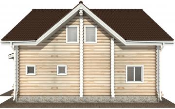 Фото #8: Красивый деревянный дом РС-162 из бревна
