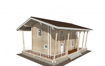 Фото #2: Красивый деревянный дом РС-163 из бревна