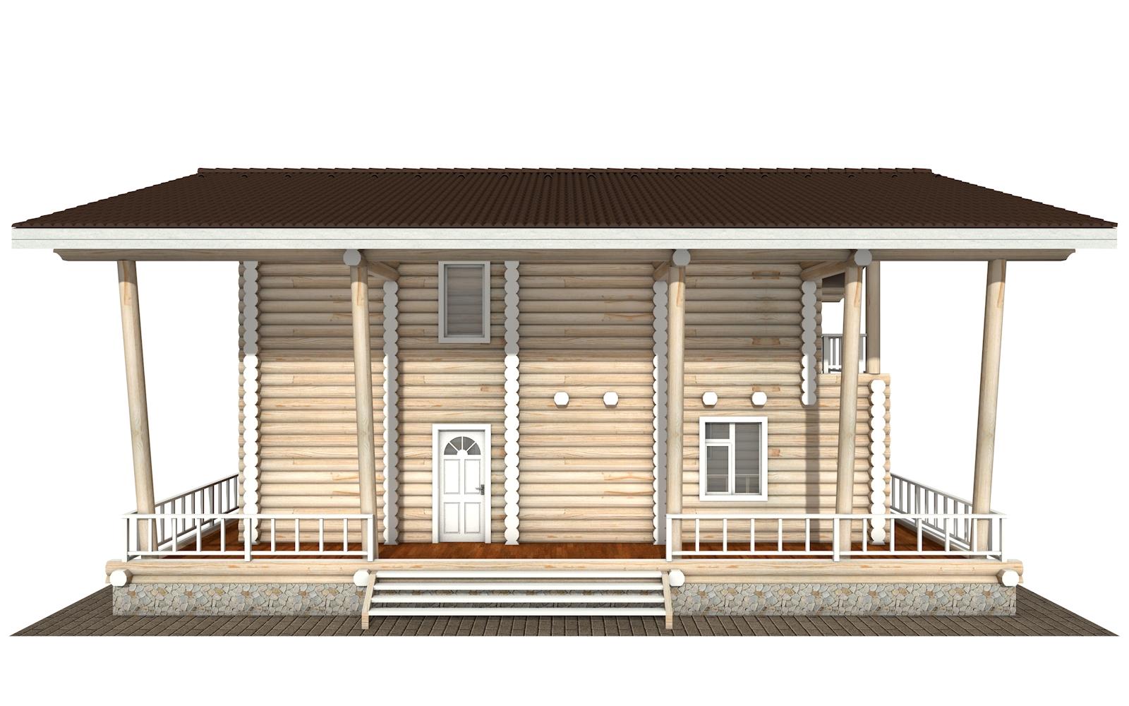 Фото #8: Красивый деревянный дом РС-163 из бревна