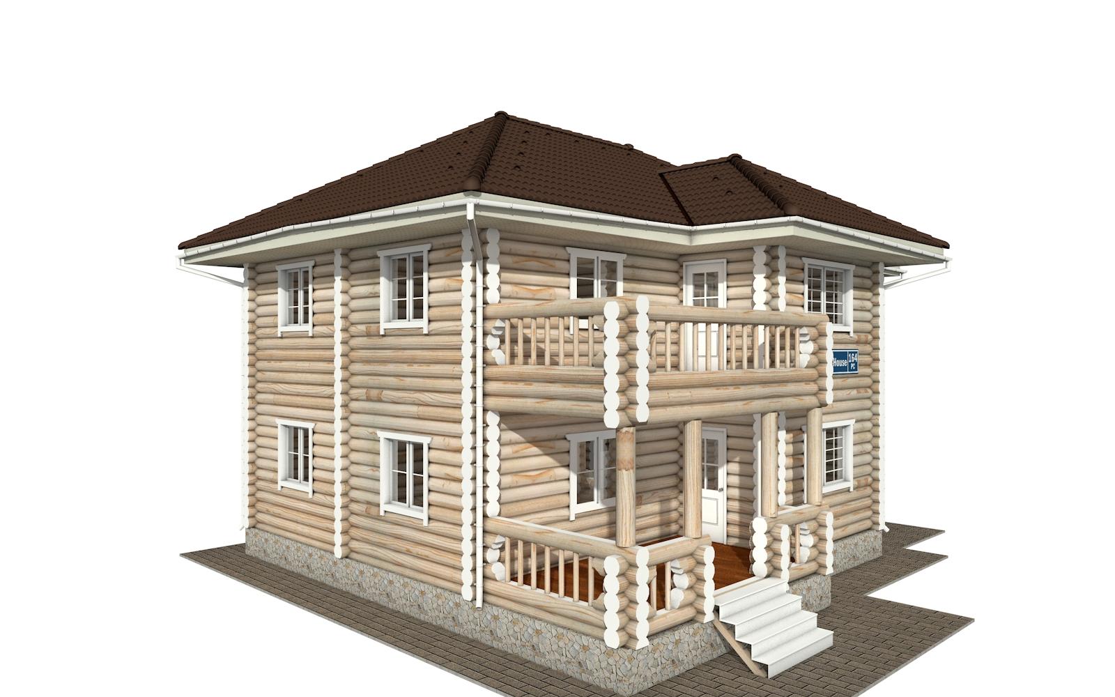Фото #2: Красивый деревянный дом РС-164 из бревна