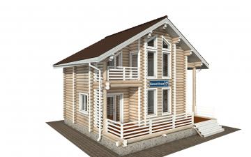 Фото #2: Красивый деревянный дом РС-146 из бревна