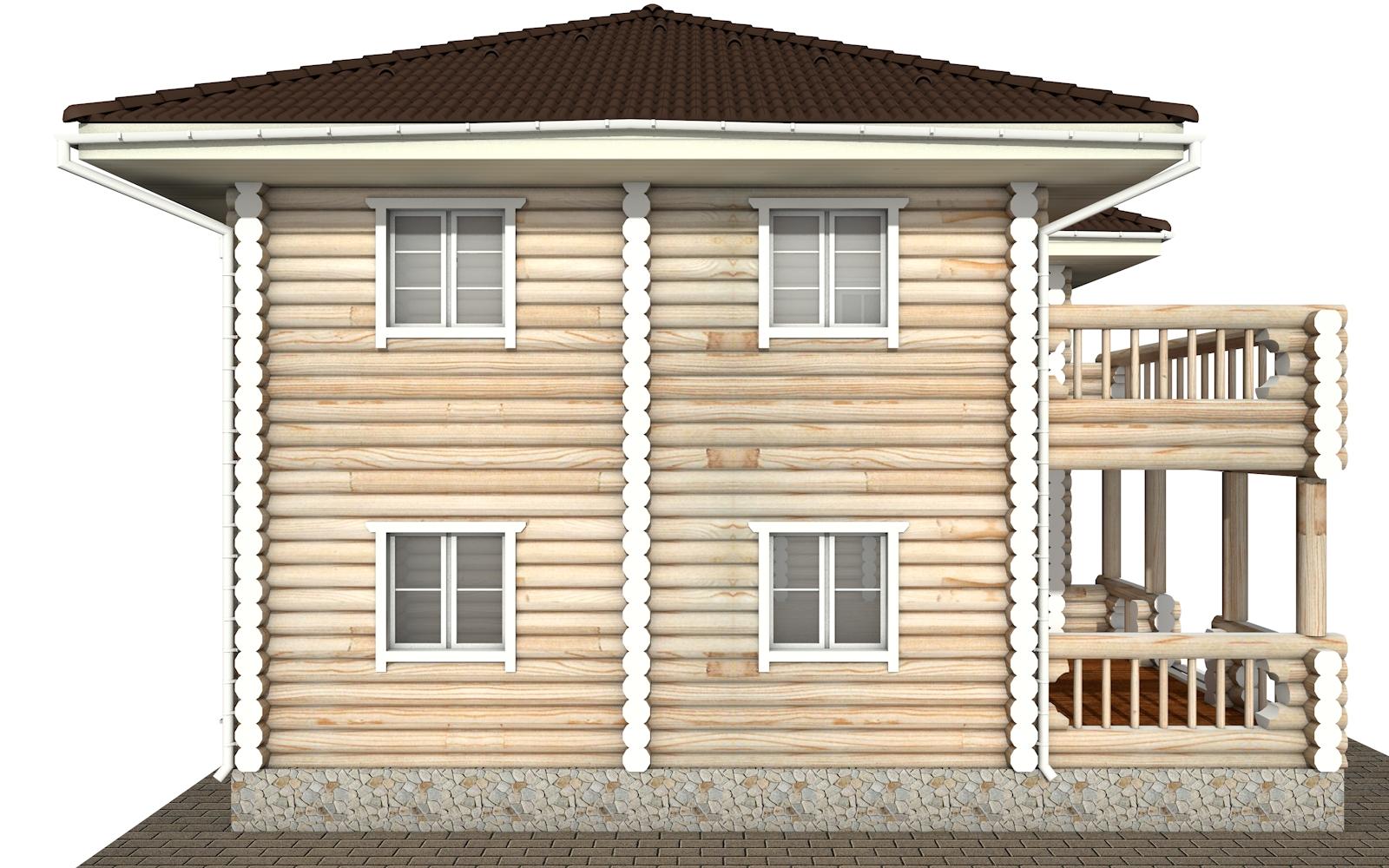 Фото #8: Красивый деревянный дом РС-164 из бревна