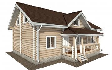 Фото #2: Красивый деревянный дом РС-166 из бревна