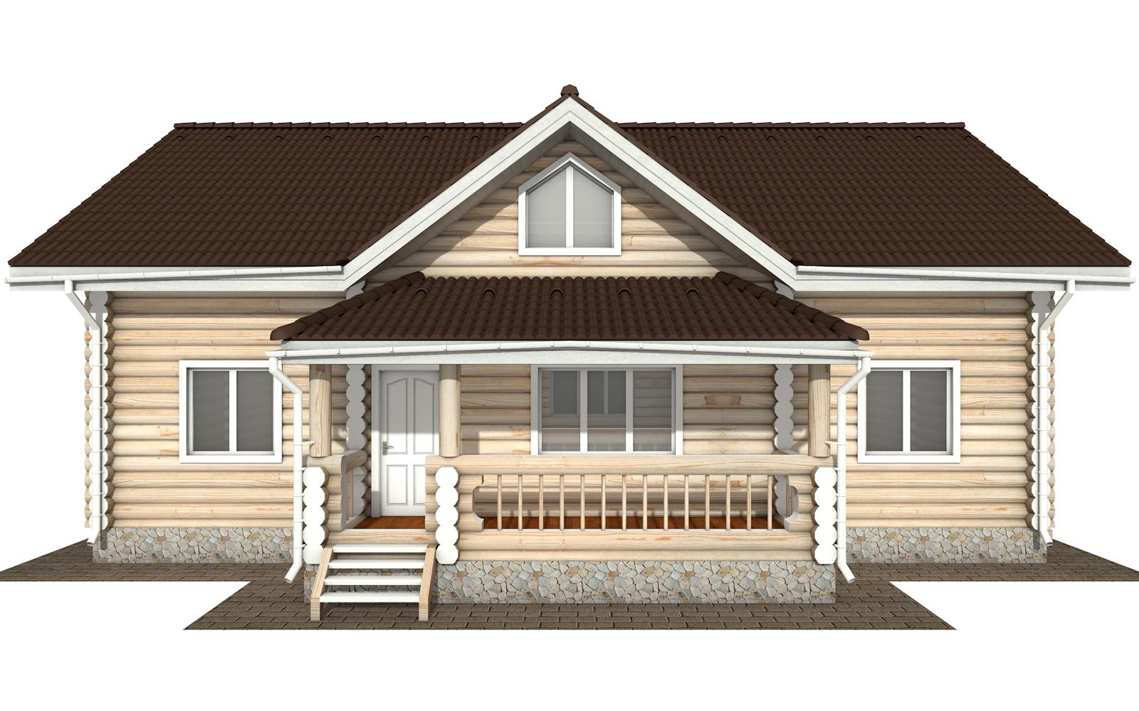 Фото #8: Красивый деревянный дом РС-165 из бревна