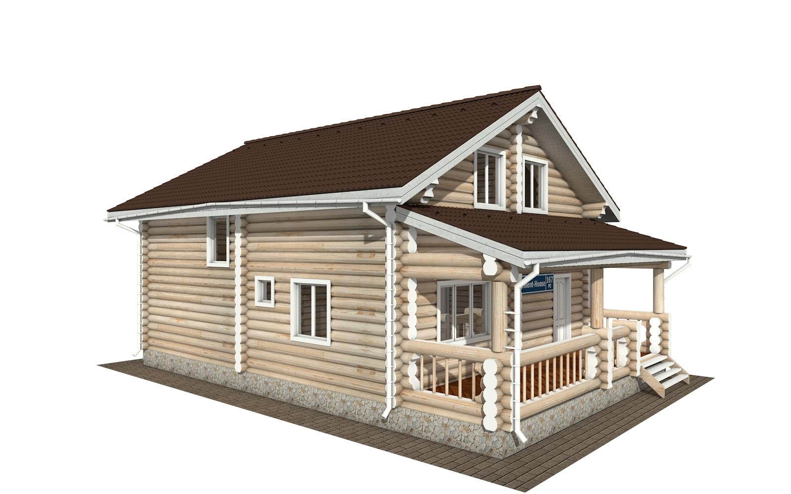 Фото #2: Красивый деревянный дом РС-167 из бревна