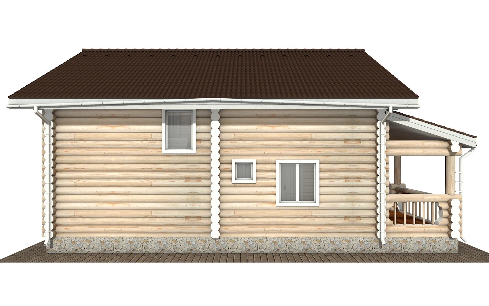 Фото #8: Красивый деревянный дом РС-167 из бревна