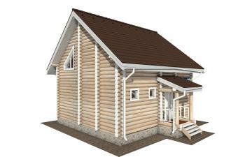 Фото #2: Красивый деревянный дом РС-168 из бревна