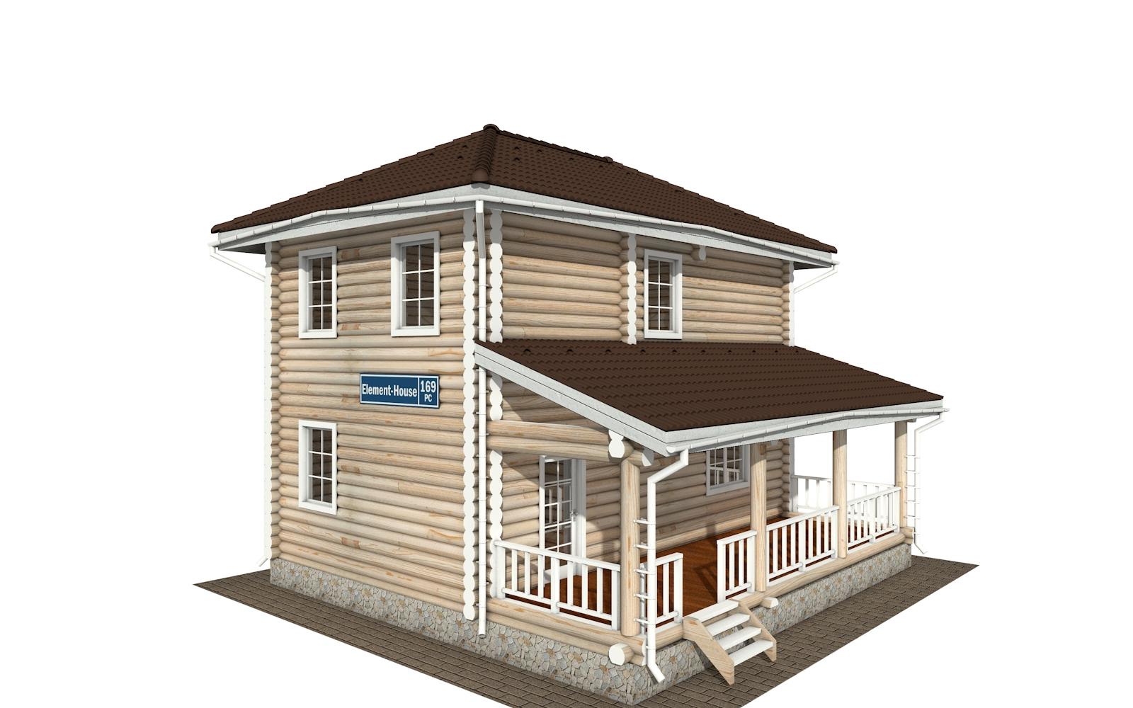 Фото #2: Красивый деревянный дом РС-169 из бревна