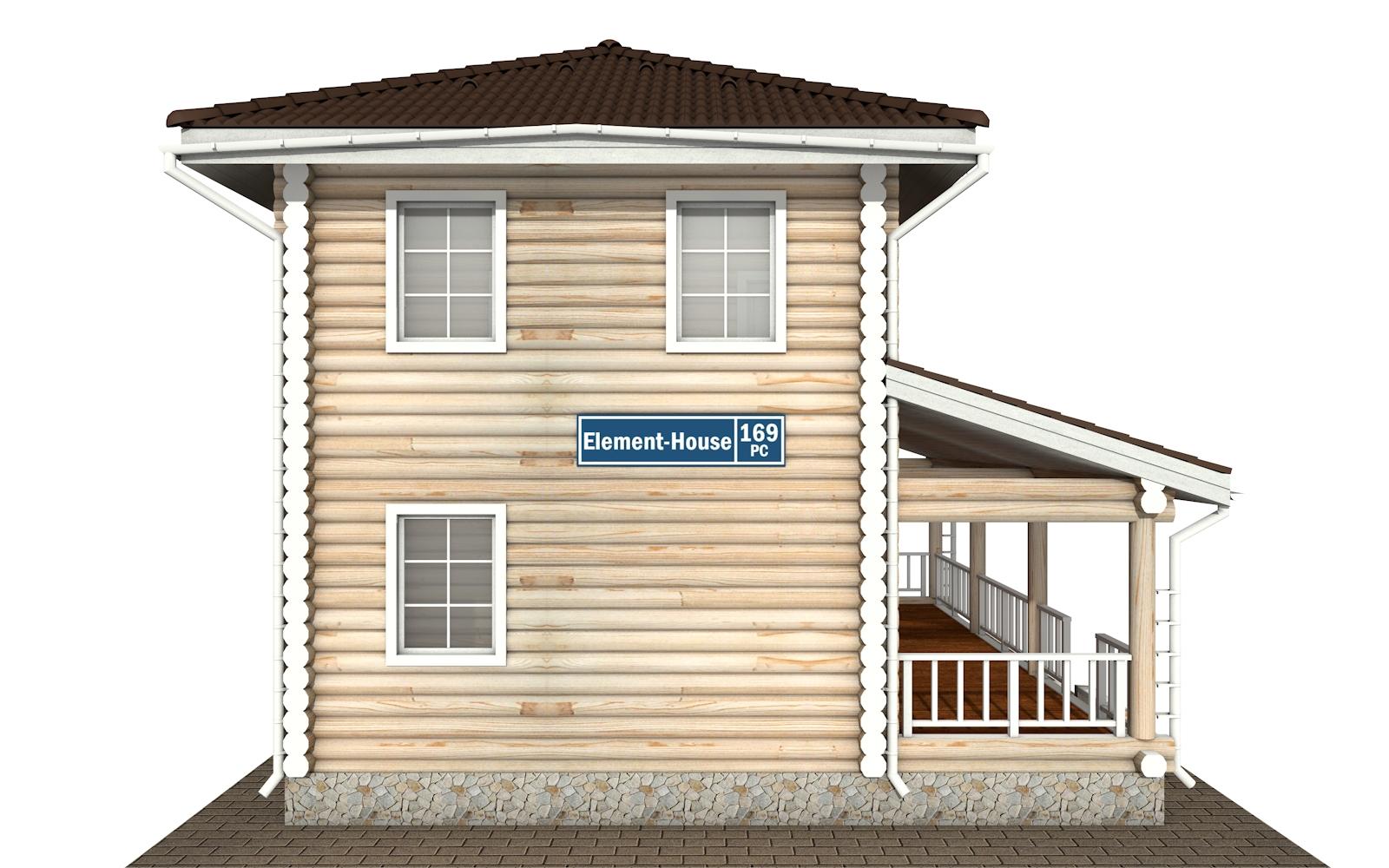 Фото #8: Красивый деревянный дом РС-169 из бревна