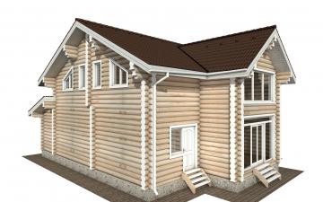Фото #2: Красивый деревянный дом РС-170 из бревна