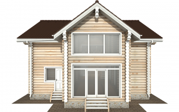 Фото #8: Красивый деревянный дом РС-170 из бревна