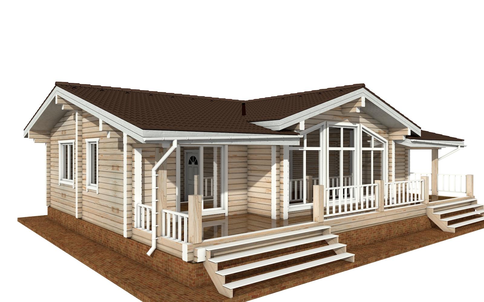 Фото #2: деревянный дом ПДБ-63 из клееного бруса купить за 8979351 (цена «Под ключ»)