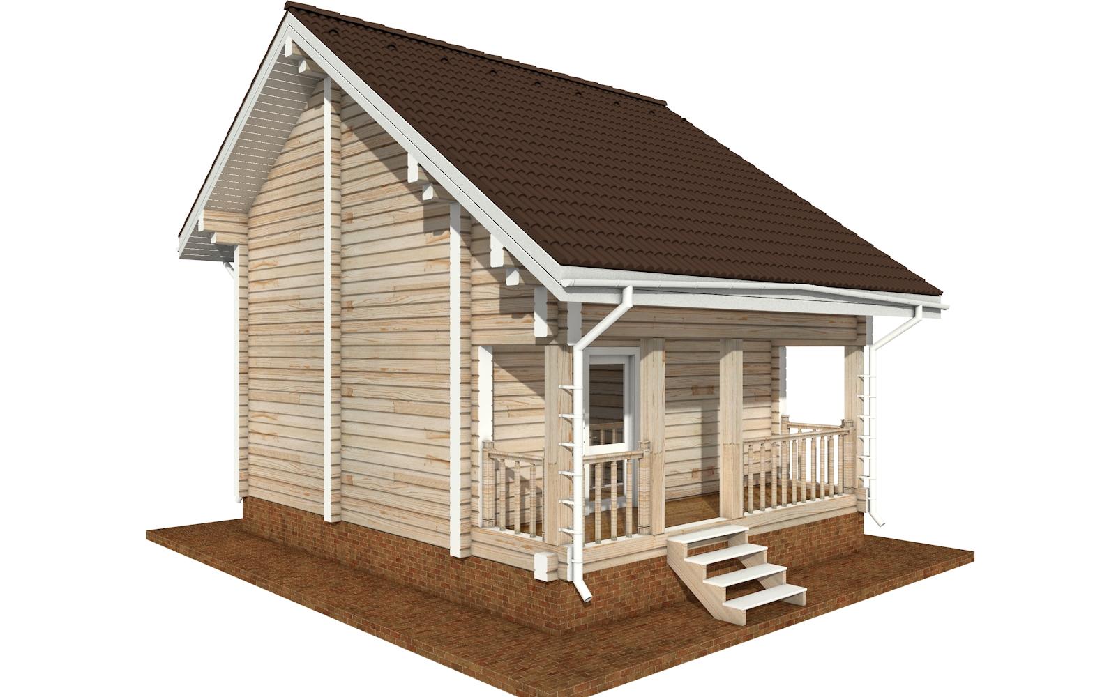Фото #2: деревянный дом ПДБ-64 из клееного бруса купить за 7080194 (цена «Под ключ»)