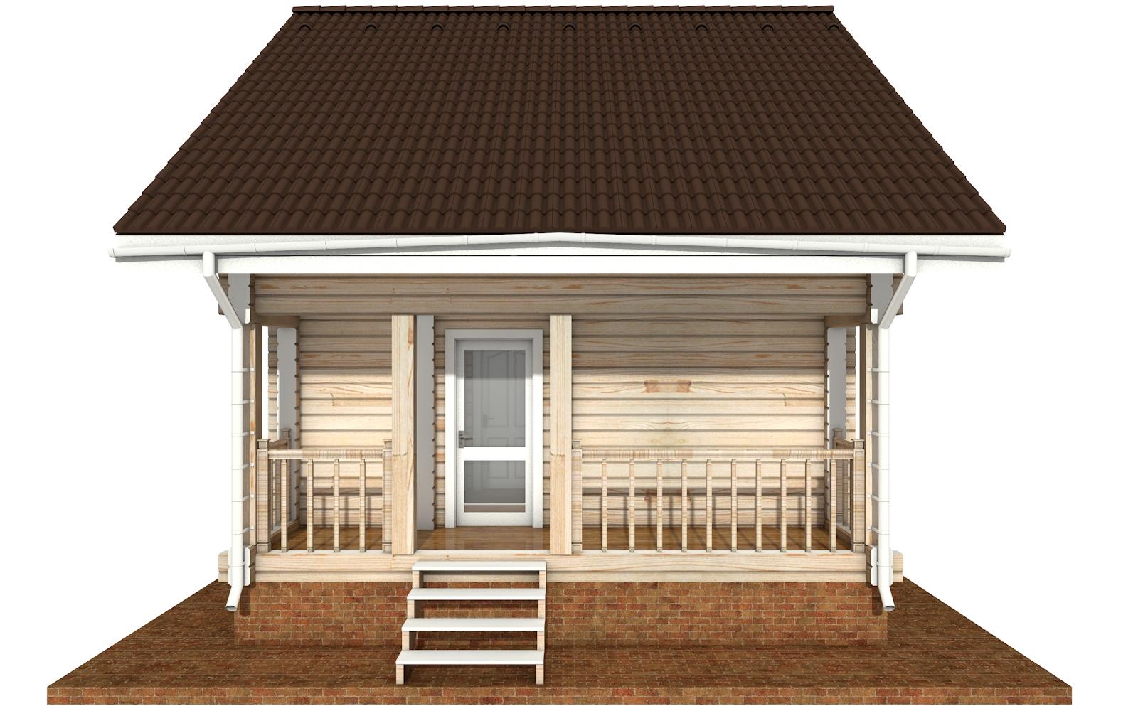 Фото #8: деревянный дом ПДБ-64 из клееного бруса купить за 7080194 (цена «Под ключ»)