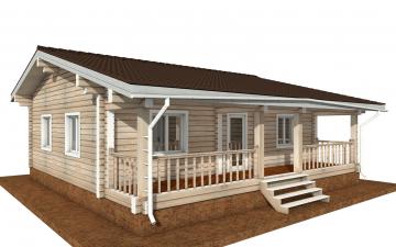 Фото #2: деревянный дом ПДБ-65 из клееного бруса купить за 8011498 (цена «Под ключ»)