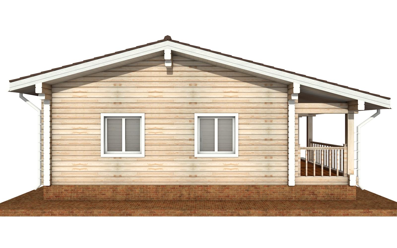 Фото #7: деревянный дом ПДБ-65 из клееного бруса купить за 8011498 (цена «Под ключ»)