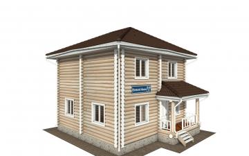 Фото #2: Красивый деревянный дом РС-149 из бревна