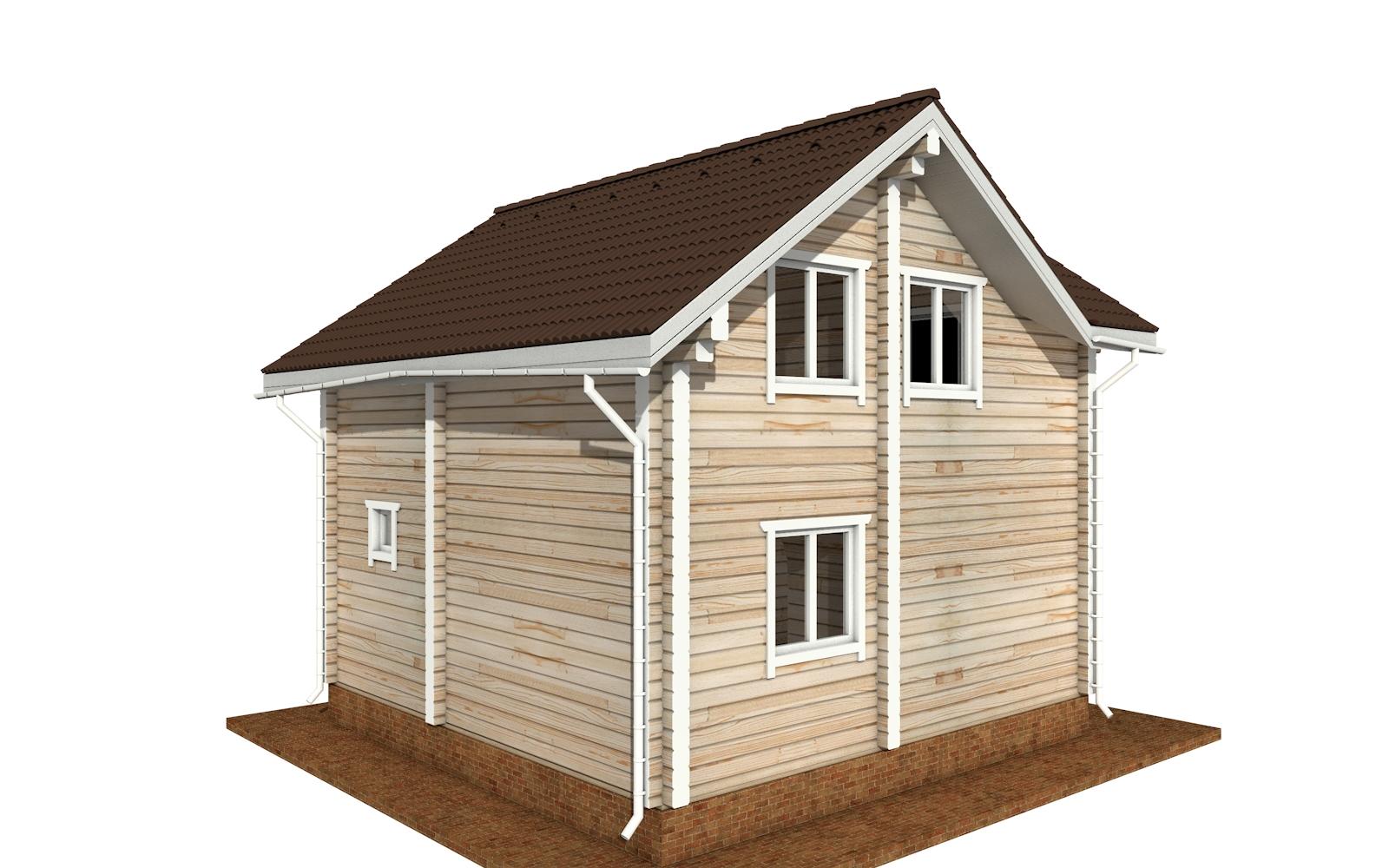 Фото #2: деревянный дом ПДБ-66 из клееного бруса купить за 8077921 (цена «Под ключ»)