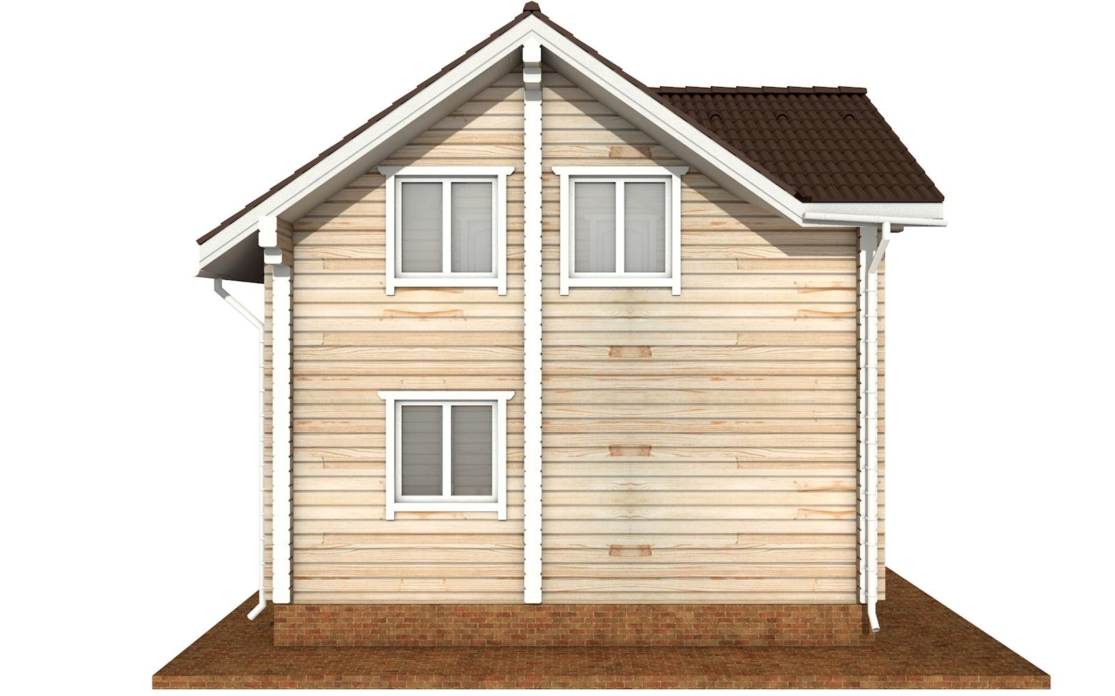 Фото #10: деревянный дом ПДБ-66 из клееного бруса купить за 8077921 (цена «Под ключ»)