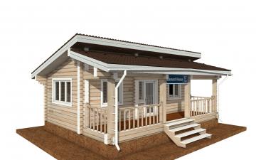 Фото #2: деревянный дом ПДБ-67 из клееного бруса купить за 4301693 (цена «Под ключ»)