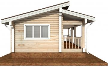 Фото #8: деревянный дом ПДБ-67 из клееного бруса купить за 4301693 (цена «Под ключ»)