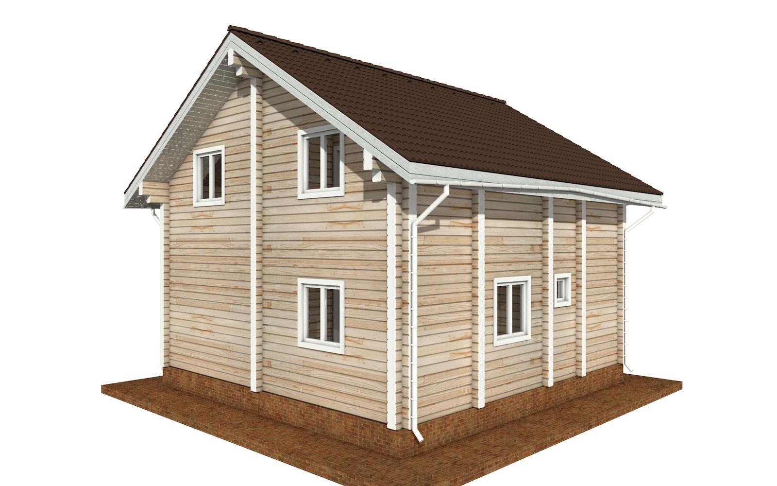 Фото #2: деревянный дом ПДБ-68 из клееного бруса купить за 10596603 (цена «Под ключ»)