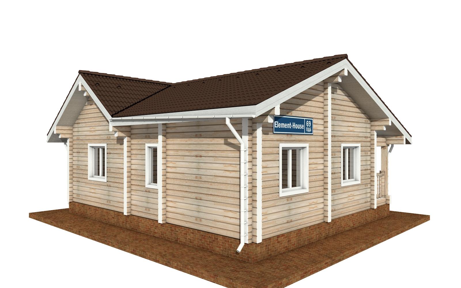 Фото #2: деревянный дом ПДБ-69 из клееного бруса купить за 8728012 (цена «Под ключ»)