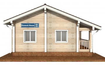 Фото #8: деревянный дом ПДБ-69 из клееного бруса купить за 8728012 (цена «Под ключ»)