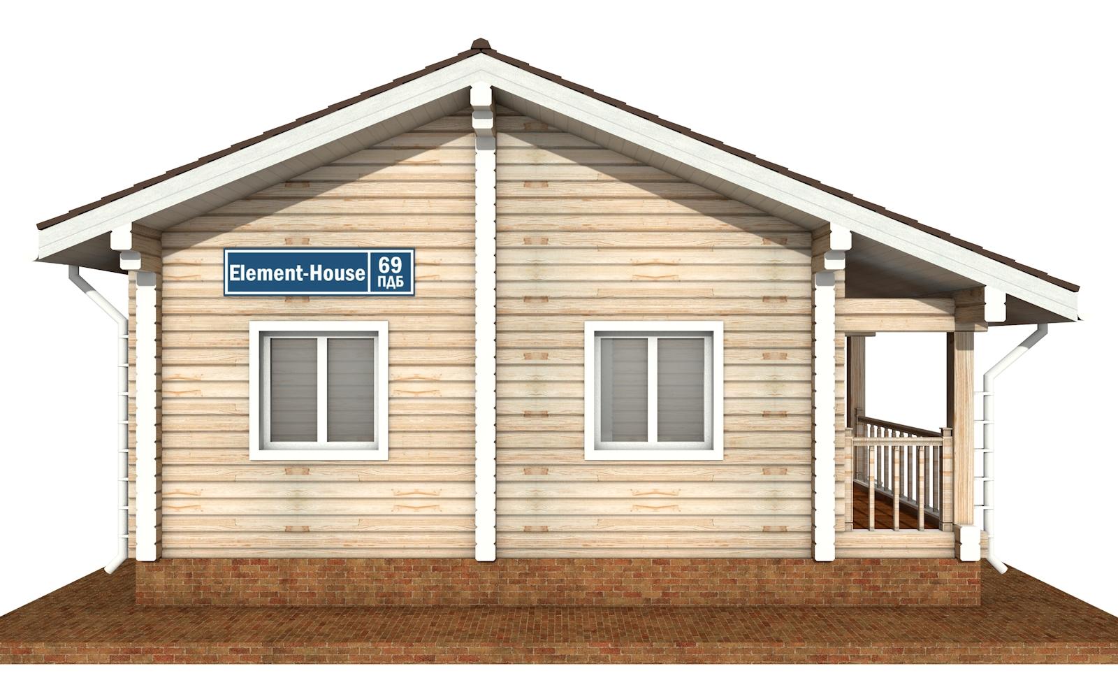 Фото #7: деревянный дом ПДБ-69 из клееного бруса купить за 8728012 (цена «Под ключ»)