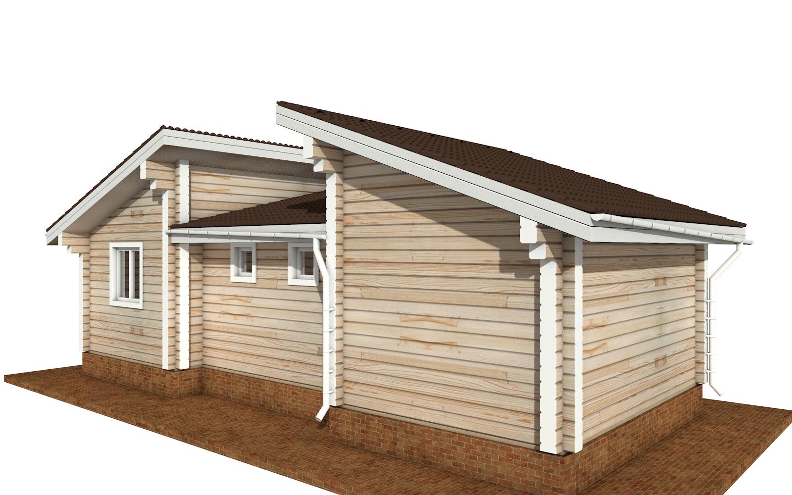 Фото #2: деревянный дом ПДБ-70 из клееного бруса купить за 5880759 (цена «Под ключ»)