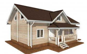 Фото #2: деревянный дом ПДБ-71 из клееного бруса купить за 10054092 (цена «Под ключ»)