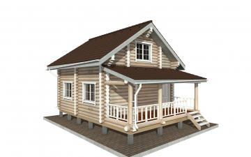 Фото #2: Красивый деревянный дом РС-150 из бревна