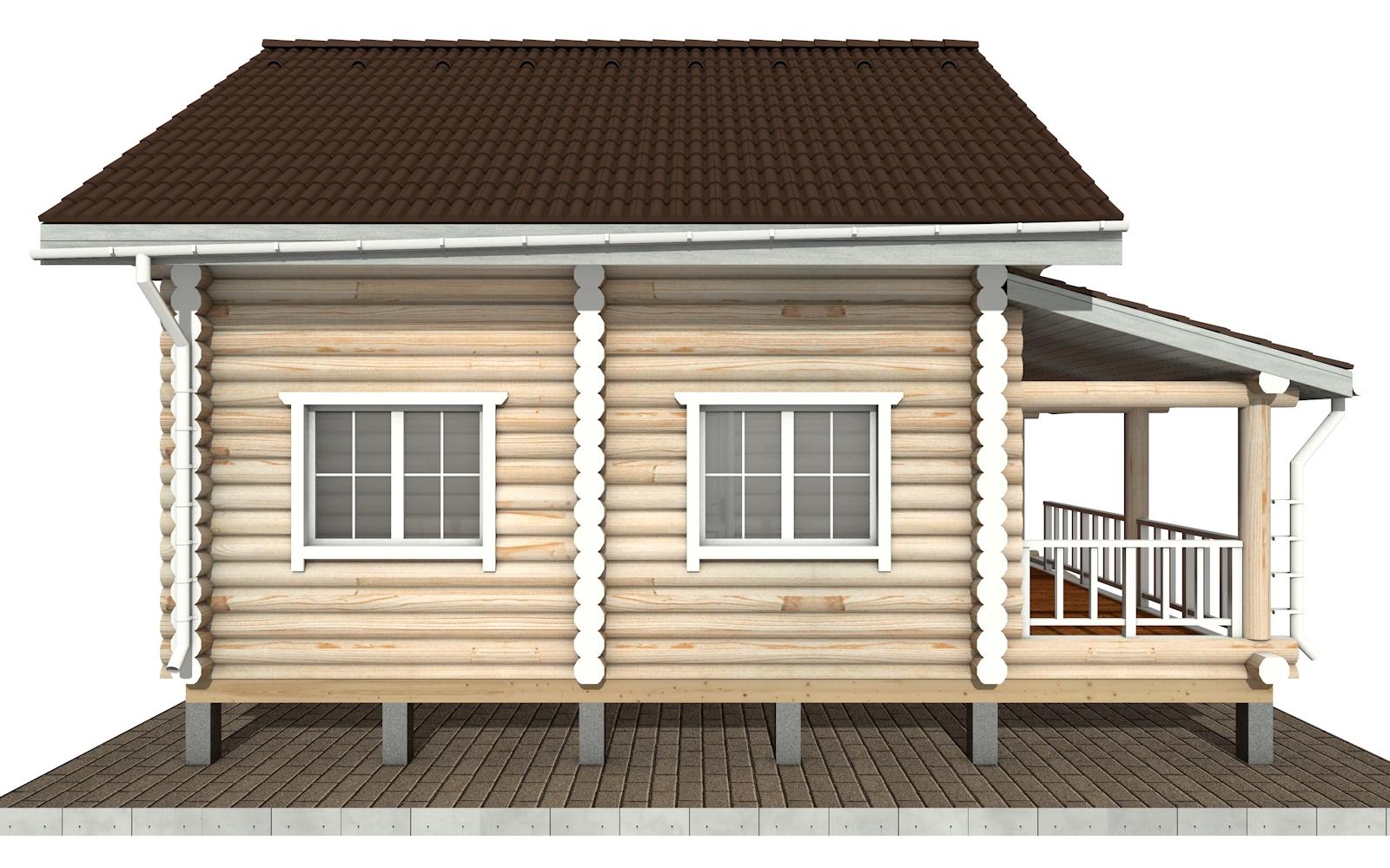 Фото #8: Красивый деревянный дом РС-150 из бревна