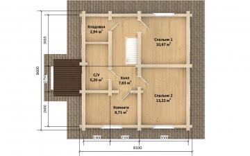 Фото #6: Красивый деревянный дом РС-168 из бревна
